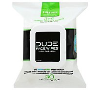 Dude Face Wipes Enrgz - 30 Count