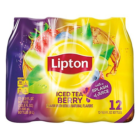 Lipton Iced Tea Berry Plastic Bottles - 202.80 Fl. Oz.