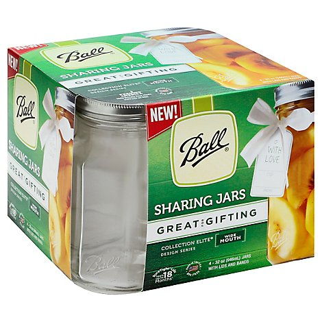 Ball Coll Wm Quart Share Jar - 4 Count