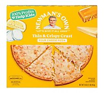 Newmans Own Pizza Thin And Crispy Four Cheese Frozen - 16 Oz