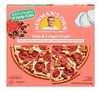 Newmans Own Pizza Italian Sausage Uncured Pepperoni Frozen - 16.5 Oz