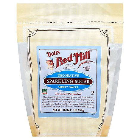 Bobs Red Mill Decorative Sugar Sparkling - 16 Oz