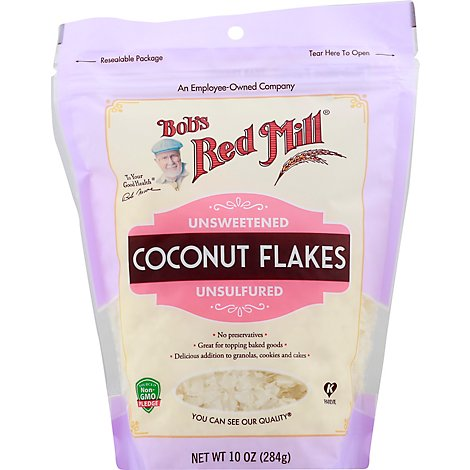 Bobs Red Mill Coconut Flakes Unsweetened Unsulfured - 10 Oz