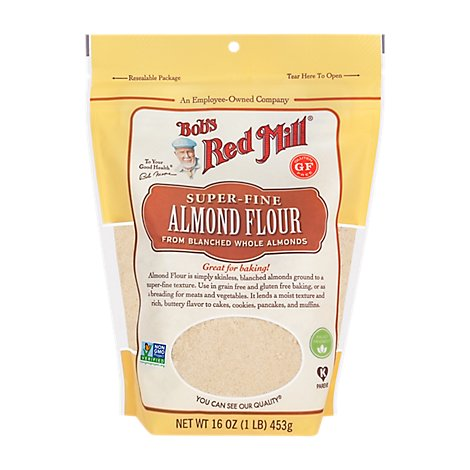 Bobs Red Mill Flour Almond - 16 Oz