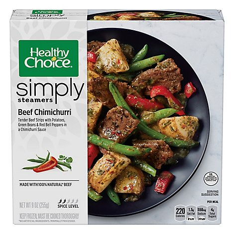 Healthy Choice Simply Steamer Beef Chimichurri - 9 Oz