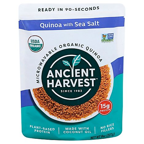 Ancient Harvest Quinoa Sea Salt Org Micro - 8 Oz