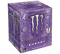 Monster Energy Drink Zero Sugar Ultra Violet - 4-16 Fl. Oz.