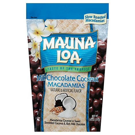 Mauna Loa Milk Chocolate Coconut Standup Bag - 10 Oz