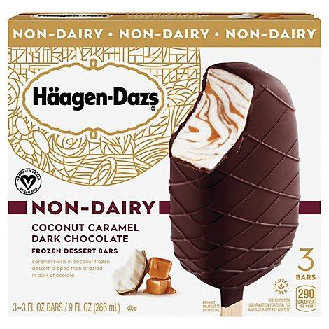 Haagen-Dazs Non Dairy Coconut Caramel Dark Chocolate Ice Cream Bar - 3-3 Fl. Oz.