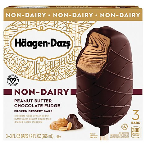 Haagen-Dazs Non Dairy Peanut Butter Dark Chocolate Ice Cream Bar - 3-3 Fl. Oz.