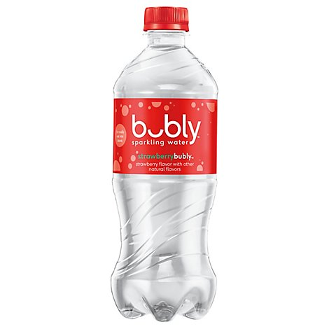 bubly Sparkling Water Strawberry Plastic Bottle - 20 Fl. Oz.