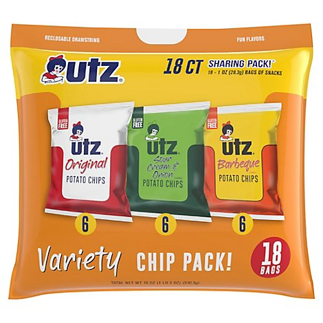 Utz Chips And Snacks Variety Pack - 18 Oz