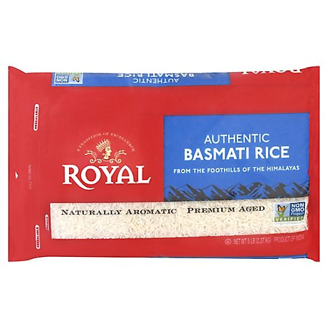 Royal Rice Indian Basmati Authentic - 5 Lb