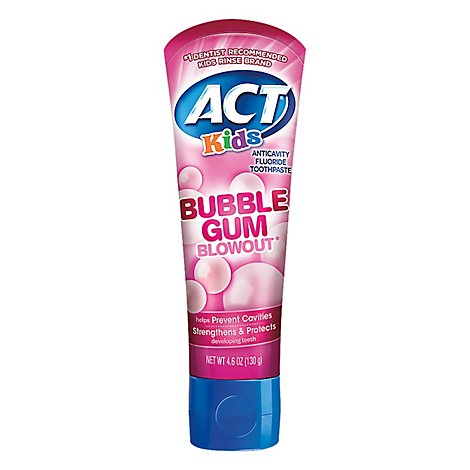 Act Kids Bubble Gum Toothpaste - 4.6 Oz