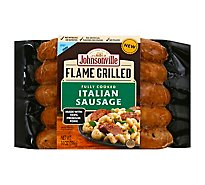 Johnsonville Flame Grilled Sausage Pork Italian Natural Casing 5 Links Fully Cooked - 14 Oz