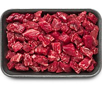 Meat Counter Beef USDA Choice Hand Cut For Chili - 1.25 LB