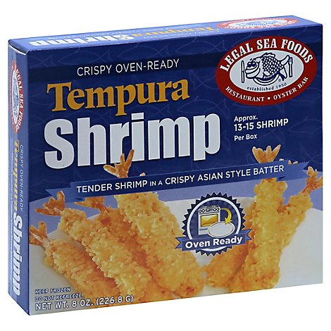 Legal Seafood Breaded Tempura Shrimp - 8 Oz