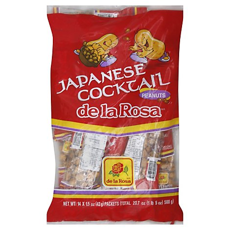 De La Rosa Peanuts Japanese Cocktail Packets - 14-1.5 Oz
