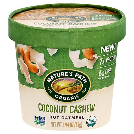 Natures Path Organic Hot Oatmeal Coconut Cashew - 1.94 Oz