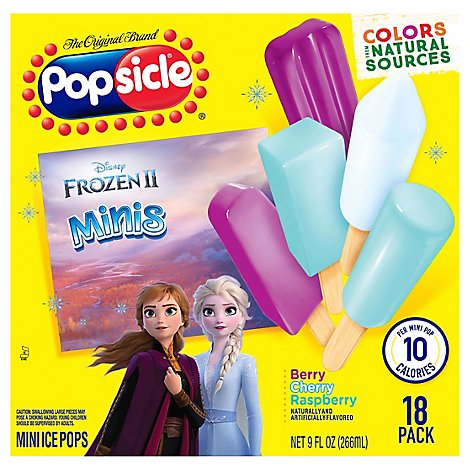 Popsicle Ice Pops Disney Frozen Minis - 18 Count