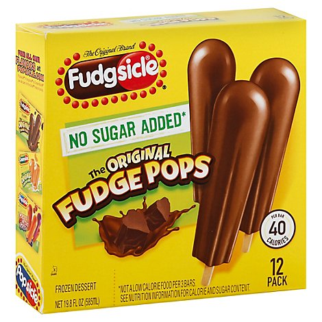 Popsicle Ice Cream Fudgesicle No Sugar Added - 12-1.65 Fl. Oz.