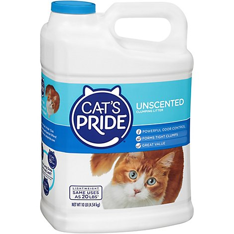 Cats Pride Cat Litter Lightweight Unscented Jug - 10 Lb