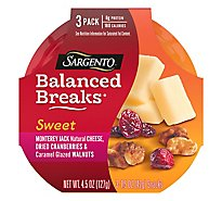 Sargento Balanced Breaks Sweet Montery Jack Cheese Dried Cranberry 3 Count - 4.5 Oz