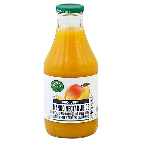 Open Nature 100% Juice Mango Nectar From Concentrate - 33.8 Fl. Oz.