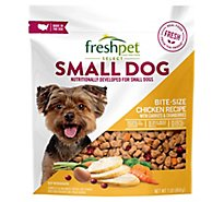 Freshpet Select Dog Food Small Dog Grain Free Bite Sized Chicken Morsels Chicken Bag - 1 Lb