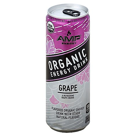 Amp Organic Grape - 12 Fl. Oz.
