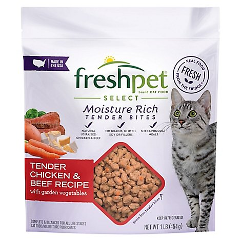 Freshpet Select Cat Food Roasted Meals Chicken & Beef Recipe Pouch - 1 Lb