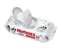 Huggies Simply Clean Baby Wipes Unscented 1 FlipTop Pack - 64 Count