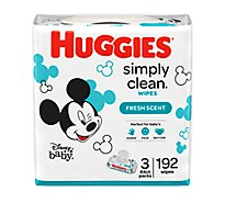 Hug Simply Clean Bby Wipe - 192 Count