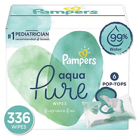 Pampers Aqua Pure Wipes 6 Packs - 112 Count