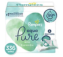 Pampers Aqua Pure Wipes 6 Pack - 336 Count