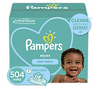 Pampers Complete Clean Baby Wipes Baby Fresh Scent 7 Pack - 504 Count