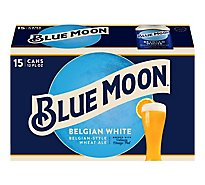 Blue Moon Belgian White Beer Craft Wheat 5.4% ABV In Can - 15-12 Fl. Oz.