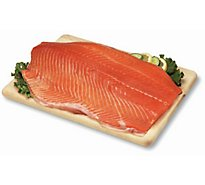 Seafood Service Counter Fish Salmon King Fillet Wild Fresh - 1.00 LB