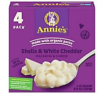 Annies Homegrown Macaroni & Cheese Shells & White Cheddar Box - 4-6 Oz