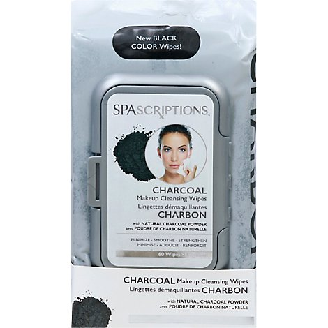 Global Charc Makeup Cleans Wipes 60ct - 5 Oz
