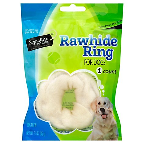 Signature Pet Care Dog Chews Rawhide Ring - 1.5 Oz