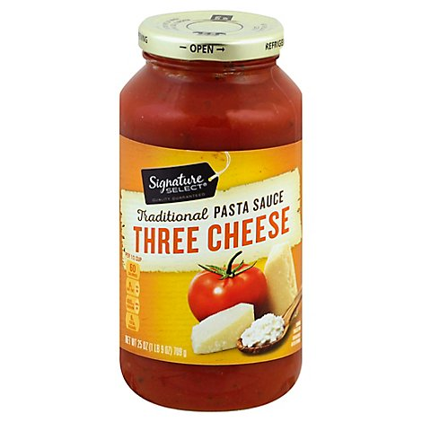 Signature SELECT Pasta Sauce Traditional Three Cheese Jar - 25 Oz