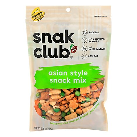 Snak Club Asian Style Mix - 6.75 Oz