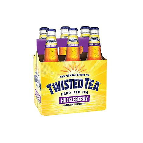Twisted Tea Brewing Hard Iced Tea Huckleberry Tea Bottles - 6-12 Fl. Oz.