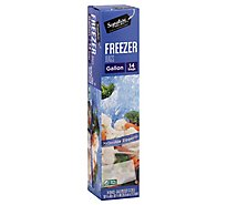 Signature SELECT Bags Freezer Click & Lock Double Zipper Gallon - 14 Count