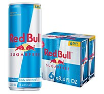 Red Bull Energy Drink Sugar Free - 6-8.4 Fl. Oz.