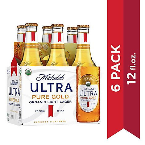 Michelob Ultra Pure Gold In Bottles - 6-12 Fl. Oz.