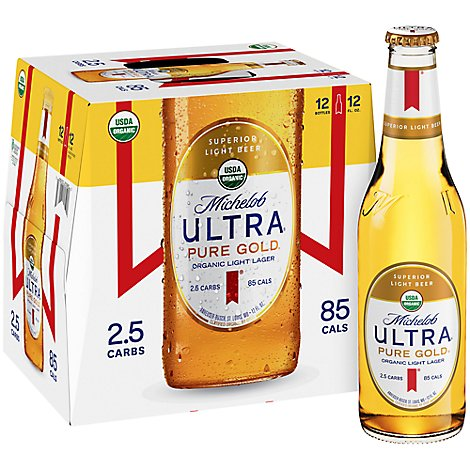 Michelob Ultra Gold In Bottles - 12-12 Fl. Oz.