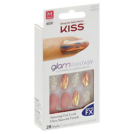 Kiss Glam Fantasy Nails Trampoline - 1 Each
