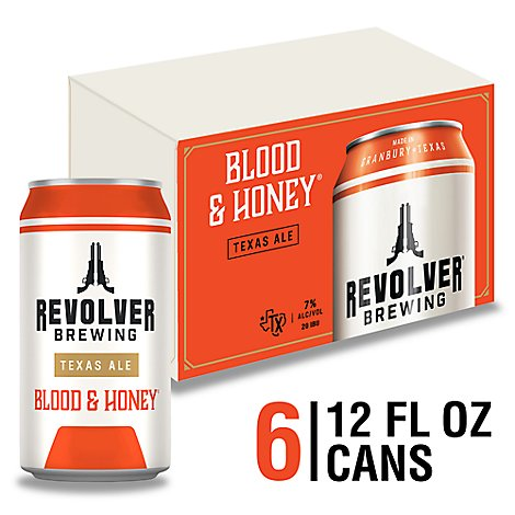Revolver Blood And Honey Beer Cans 7% ABV 6-12 Fl. Oz.